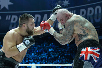 Browne's performance against Chagaev was heroic. Photo: Getty