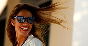 ABU DHABI, UNITED ARAB EMIRATES - NOVEMBER 26: Fernando Alonso of Spain and McLaren Honda's girlfriend Lara Alvarez looks on in the paddock during previews for the Abu Dhabi Formula One Grand Prix at Yas Marina Circuit on November 26, 2015 in Abu Dhabi, United Arab Emirates. (Photo by Mark Thompson/Getty Images)