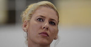 **FILE** A March 7, 2014 file photo of basketball player Lauren Jackson attending the International Women's Day lunch in Canberra. Ms Jackson has been appointed an Officer in the Order of Australia (AO) in the Queen's Birthday 2015 Honours List. (AAP Image/Lukas Coch) NO ARCHIVING