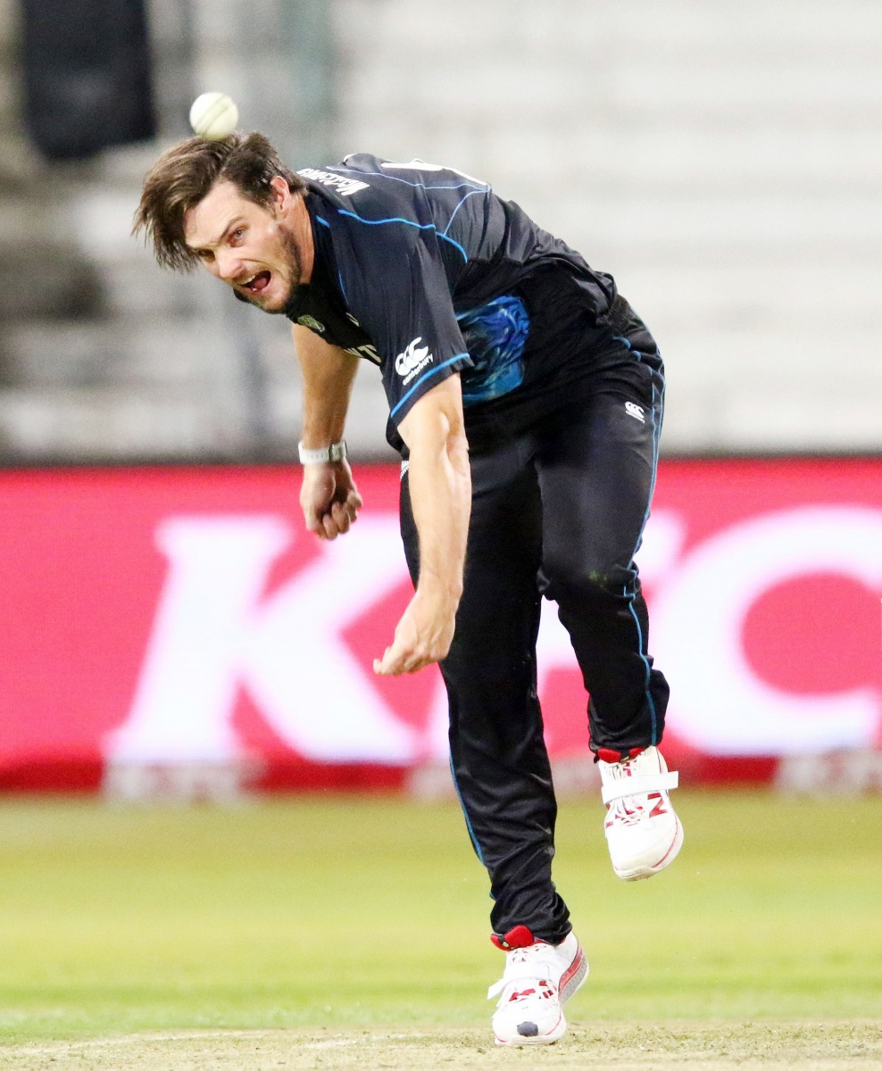Mitchell McLenaghan took three wickets for the Kiwis. Photo: Getty