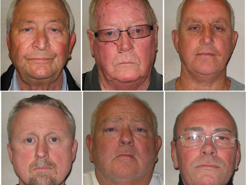 Clockwise from top left: Terry Perkins, John Collins, Daniel Jones, Carl Wood, William Lincoln and Hugh Doyle. Photo: Metropolitan Police