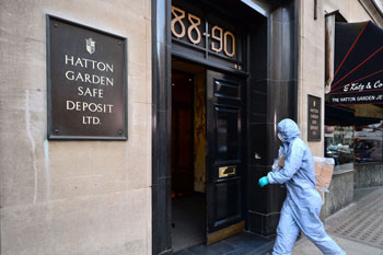 The safe deposit firm the men targeted. Photo: Dominic Linpinski/PA Wire