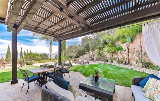 Views from the back garden stretch over the Hollywood Hills. Photo: Realtor
