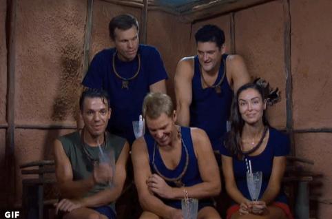 The contestants enjoy their reward, spider milkshakes, after the challenge.