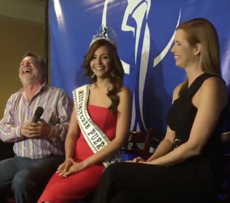 New contestant Brenda Azaria Jiménez was crowned in a press conference on Thursday. Photo: Facebook