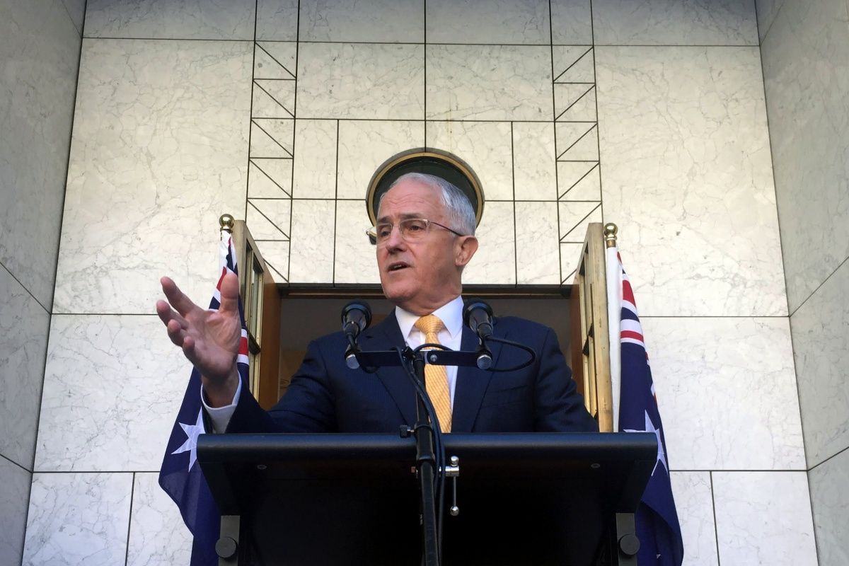 Mr Turnbull said he did not regret ousting the former leader.