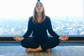 Yoga and meditation can be useful alternatives to drug use. Photo: Getty