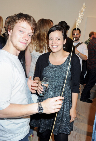 Alfie with his sister, Lily Allen. Photo: Getty