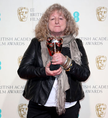 Beavan's similarly-casual outfit at this year's BAFTAs. Photo: Getty