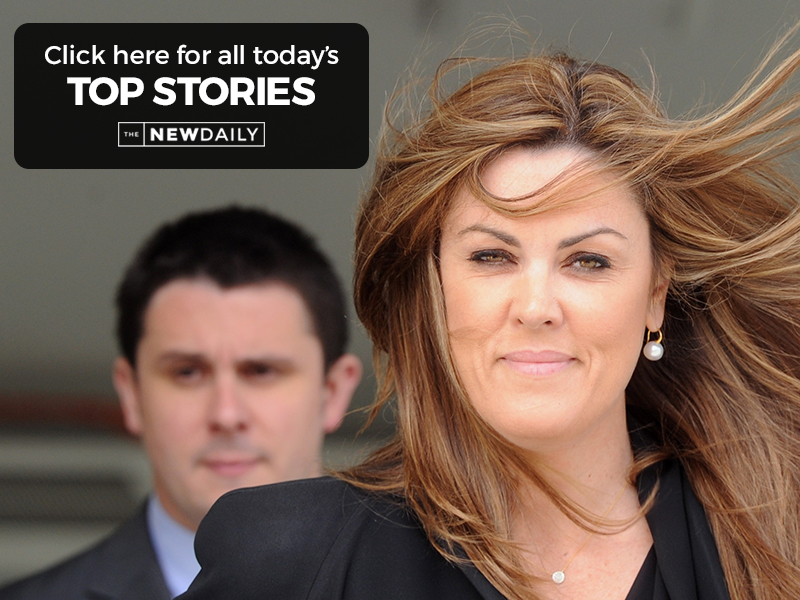 Tony Abbott's chief of staff, Peta Credlin, leaves the Magistrates Court in Canberra, Tuesday, Sep. 10, 2013. Ms Credlin pleaded guilty to drink driving charges. (AAP Image/Lukas Coch) NO ARCHIVING