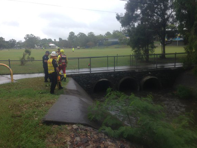 It is believed the teens entered the drain about 8:30am.