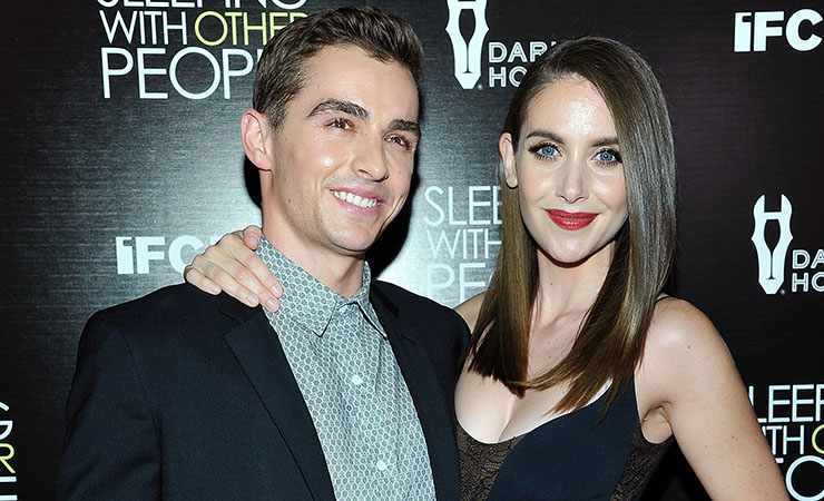 Alison Brie with her fiancé, fellow actor Dave Franco. Photo: Getty
