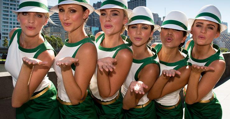 grid girls australian grand prix
