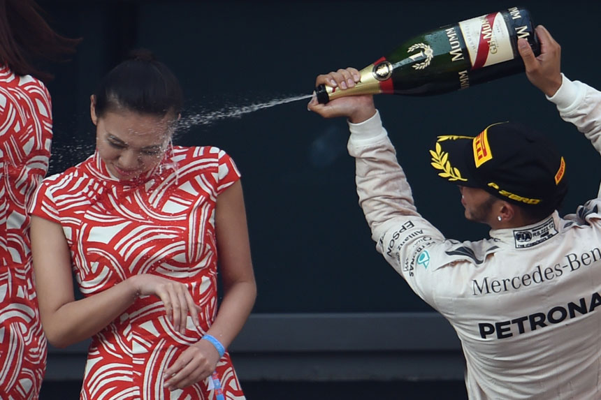 Hamilton was heavily criticised for this incident. Photo: Getty