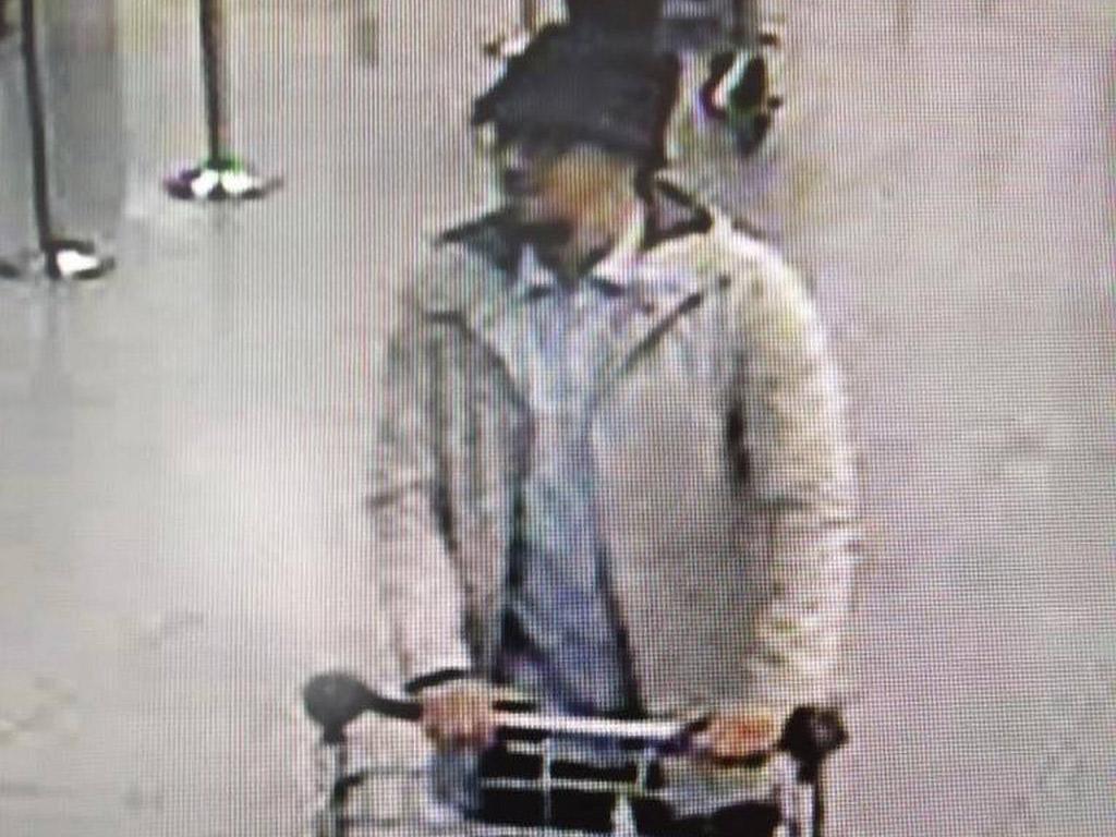 Man in hat, belgium attacks
