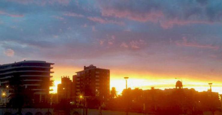 A beautiful sunrise in Melbourne at St Kilda beach.