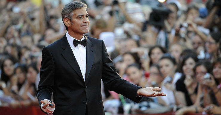 US actor George Clooney arrives for the