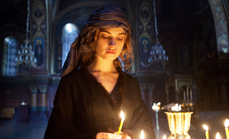 Shawls are even worn as headwear in War and Peace. Photo: BBC