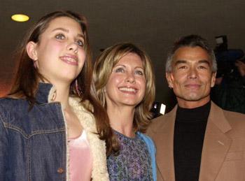 Olivia Newton-John, her daughter and Patrick McDermott