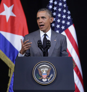 Mr Obama said the US-led coalition will continue hitting IS militants.