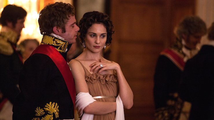 Shawls are everywhere on BBC's War and Peace. Photo: BBC