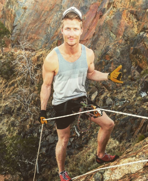 Richie Strahan has avoided dating apps like Tinder. Photo: Instagram