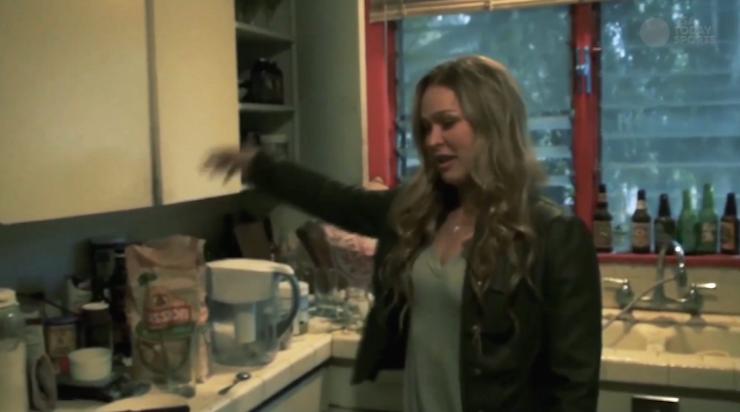 Ronda in her kitchen.