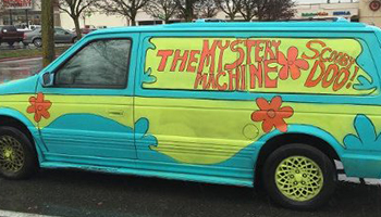 Unfortunately there were no meddling kids to stop her getting away with it. Photo: Twitter