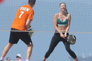 Sharapova training