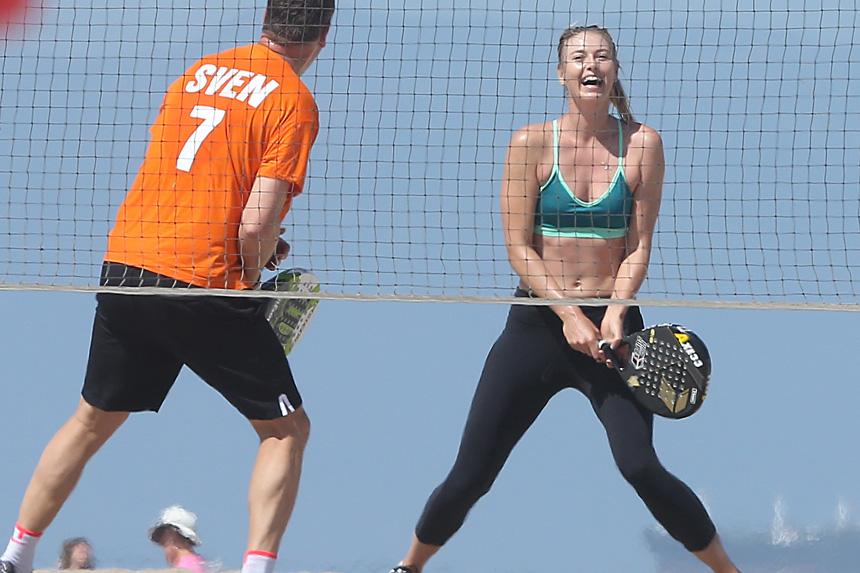 Sharapova training