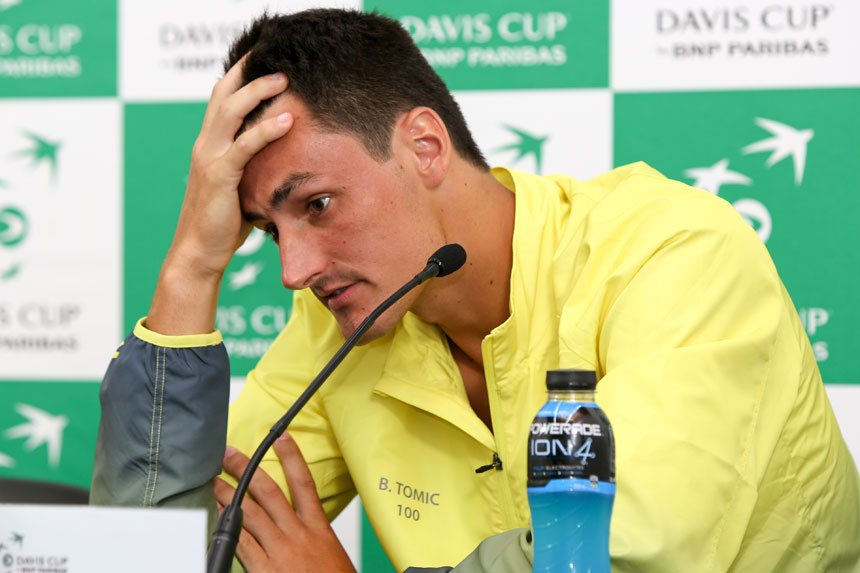 Tomic criticises Kyrgios