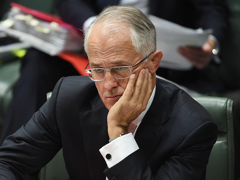 Malcolm Turnbull has seen his honeymoon as PM screech to a halt. Photo: AAP
