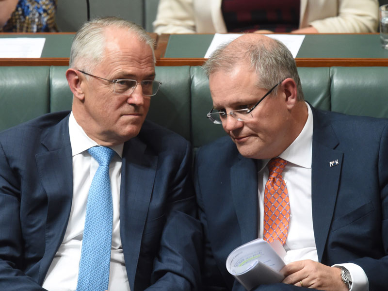 Malcolm Turnbull and Scott Morrison