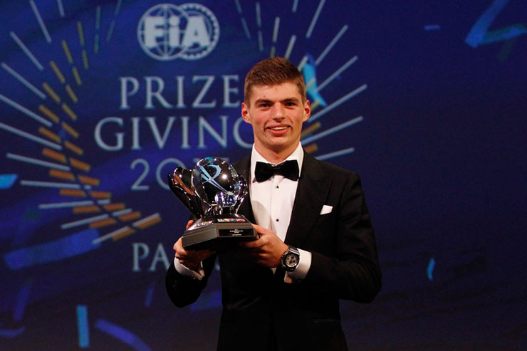 Verstappen won a swag of awards for his 2015 season. Photo: Getty