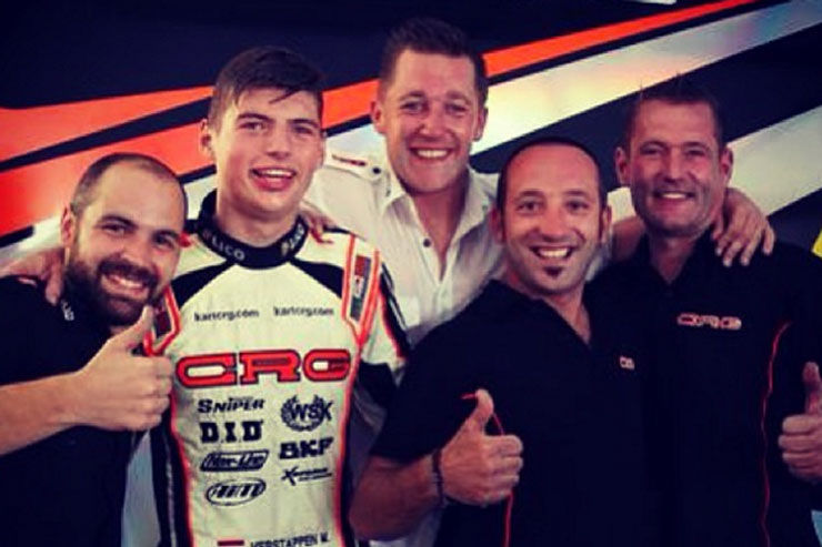Verstappen and friends celebrate his 2013 karting world title. Photo: Instagram