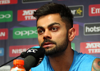 India captain Virat Kohli looked shocked during post match press conference. Photo: Getty