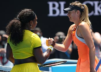 maria sharapova serena williams australian open