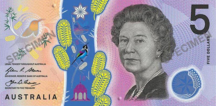 Artwork for the new Australian $5 banknote.
