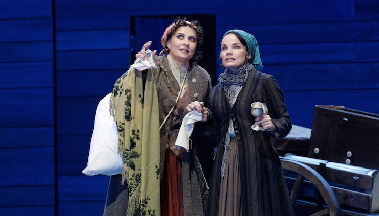 Nicki Wendt (left) and Sigrid Thornton. Photo: Jeff Busby
