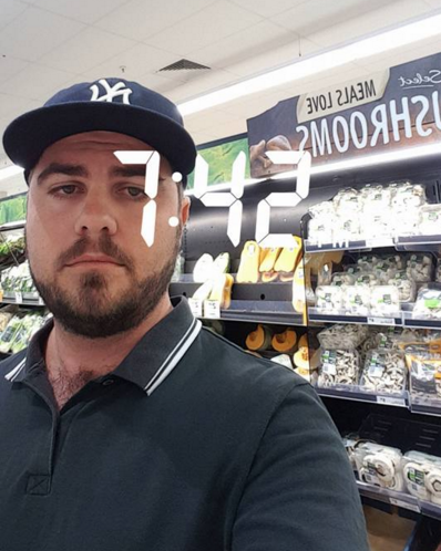 A photo of Brok after he went back to see if the girl was still in the store.
