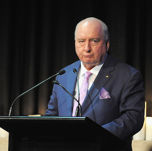 Alan Jones' strong opinions and industry cred attract massive breakfast audiences. Photo: Getty