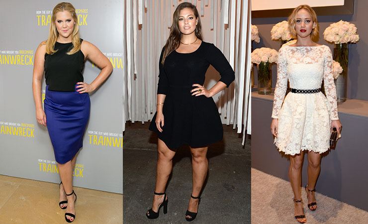Amy Schumer, Ashley Graham and Jennifer Lawrence are sick of the labels. Photo: Getty