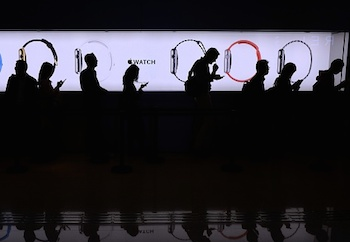 There were queues when the Apple Watch first launched. Photo: Getty