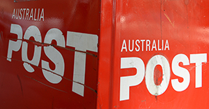Stock images of Australia Post postboxes in Sydney, Monday, Sept. 2, 2013. (AAP Image/Dan Himbrechts) NO ARCHIVING