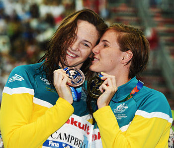 cat and bronte campbell, swimmers