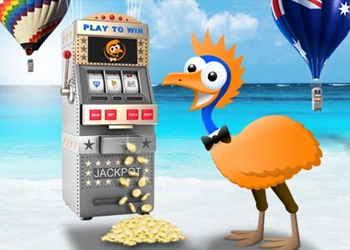 The online casino uses Australian motifs to advertise.