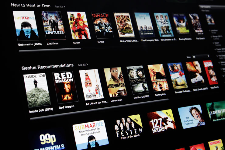 Renting a movie from the iTunes store could free up 400mb of space. Photo: Getty