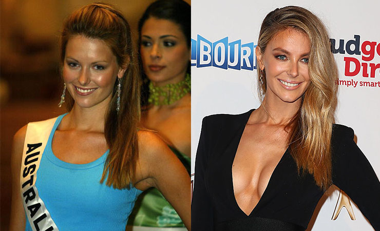 From fresh-faced pageant competitor (left) to seasoned businesswoman. Photo: Getty