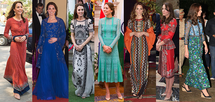 kate middleton india outfits