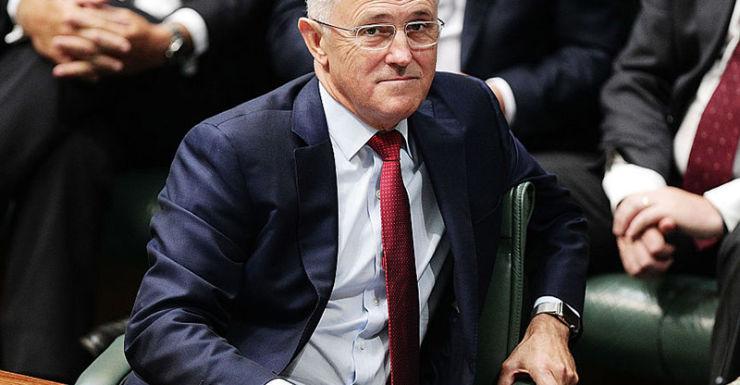 Malcolm Turnbull in parliament
